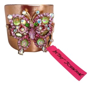 Betsey Johnson Crystal Butterfly cuff