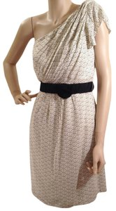 MM Couture One Shoulder Lined Rouched Dress