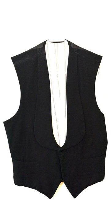 Vintage French Vest From Paris 80s Button Down Shirt Black