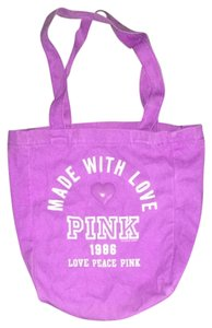 PINK Victoria's Secret Tote in Neon Purple