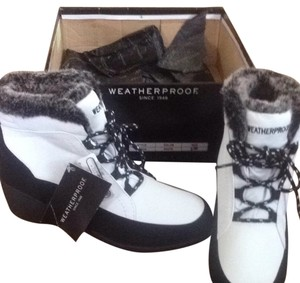 Weatherproof Black And White Boots