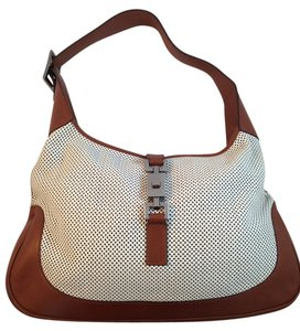 Gucci Leather Perforated Shoulder Bag