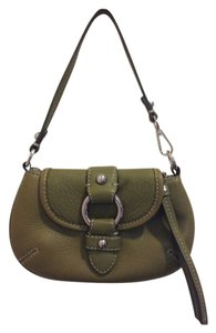 Banana Republic Leather Wristlet in Olive green