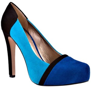 BCBGeneration Suede Colorblock Color-blocking Blue Pumps