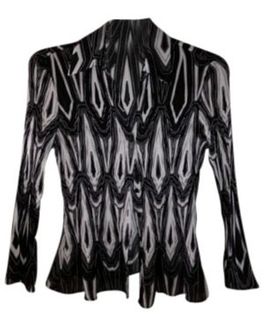 Preload https://item3.tradesy.com/images/sunny-leigh-blackwhite-pleated-blouse-size-4-s-9102-0-0.jpg?width=400&height=650