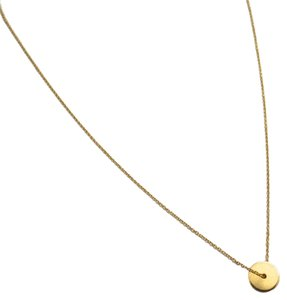 Elliot Francis Gold disc necklace