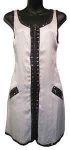 Sheri Bodell short dress White Sheath Silk Studded Zip Pockets on Tradesy