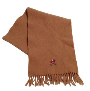 Ralph Lauren Fringed Teddy Bear Logo Scarf