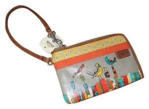 Fossil Key-per Birds Orange Wristlet in Multi