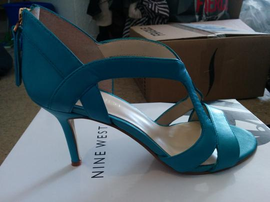 Nine West Summer Spring Cute Turquoise Sandals