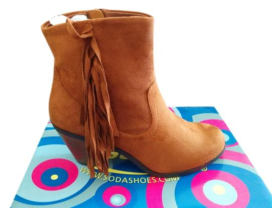 Soda Blu Brown Boots