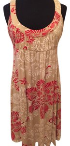 New York & Company short dress Tan/Red on Tradesy