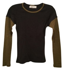 Juicy Couture T Shirt Black and olive green