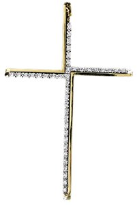 Roberto Coin Roberto Coin 18 Karat Yellow Gold & Diamond Cross