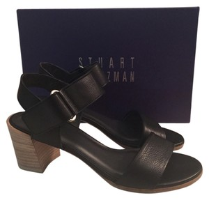 Stuart Weitzman Sandal Leather Black Sandals