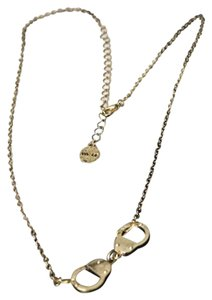 Aged Gold Plated Handcuff Necklace.