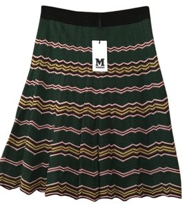 Missoni Skirt Multi-Color Green, Yellow, Pink, Black