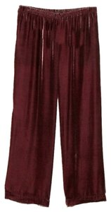 Soft Surroundings New Without Tags Velvet Wide Leg Pants Red-Pink