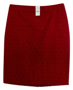 J.Crew Pencil Skirt Red