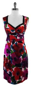 Nanette Lepore short dress Multi Color Floral Silk on Tradesy
