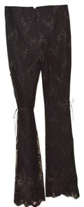 A.B.S. by Allen Schwartz Lace Ribbon New Years Evening Dressy Elegant Boot Cut Pants Black