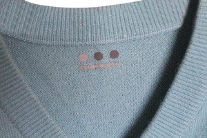 Three Dots Cashmere V-neck Blue Aqua Sweater