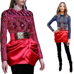Balmain x H&M Brand New With Tags Mini Skirt RED