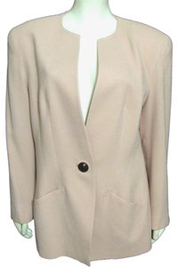 Lilli Ann Vintage Light Sand Jacket Women L Large 12 14 Made In Usa Usa Black Buttoned Gold Shell Classic 1970s tan beige Blazer