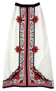 ALICE by Temperley Floral Print Silk Maxi Maxi Skirt