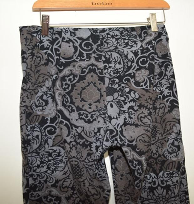 White House | Black Market Dressy Night Out Straight Pants Black/Silver