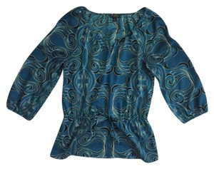 Banana Republic Top Blue; Teal; Black