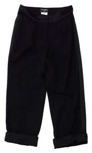Chanel Black Wool Trousers Trouser Pants