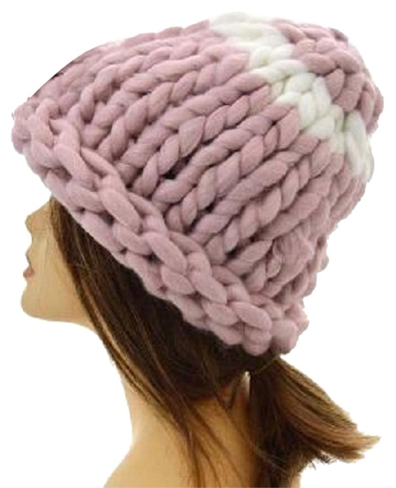 8f4817eb6 Pink Finland Style Lovely and Warm Chic Chunky Big Yarn Knitted Beanie  Winter Cap Hat