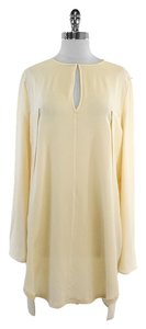Sportmax Cream Silk Long Sleeve Top
