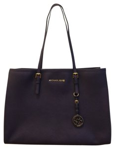 Michael Kors Saffiano Leather Travel Tote in Iris
