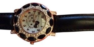 Hello Kitty Hello Kitty Rhinestone Leather Banded Watch