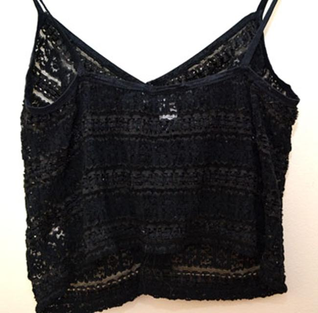 bebe Camisole Lace Top Black