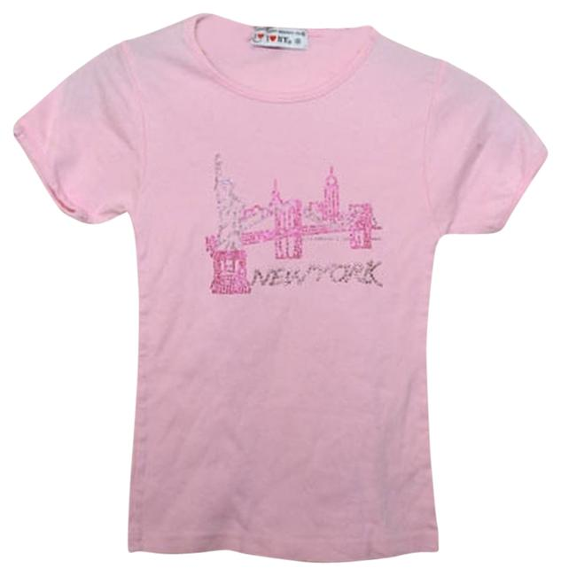 I heart NY Studded T Shirt pink
