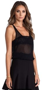 Torn by Ronny Kobo Bridie Openstitch Top Black