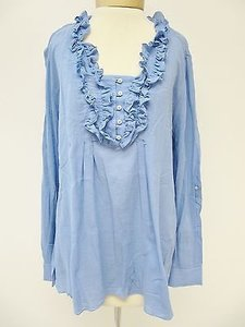 Elie Tahari Womens Top Blue