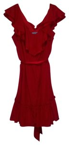 Antonio Melani short dress red Ruffle Sash on Tradesy