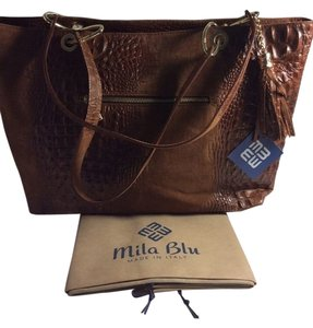 Mila Blu Tote in Brown
