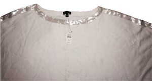 Talbots Top Winter White