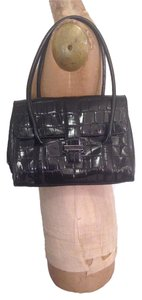 Ann Taylor Croc Leather Shoulder Bag