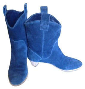 Marc Jacobs Suede Pull On Blue Boots
