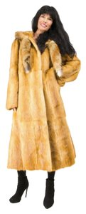 GENUINE WEASEL FUR COAT Real Fox Fox Red Fox Fur Coat