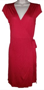 Old Navy short dress Red Wrap Cap Sleeve on Tradesy