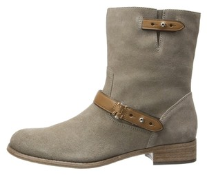 Coach Amy Leather Light Tan Boots