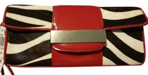 Alfani zebra print with red trimming Clutch