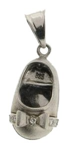 Other 14K WHITE GOLD DIAMOND SHOE PENDANT /CHARM